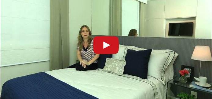 Projeto da tecnisa dá dicas de decoração para o quarto do casal em vídeo