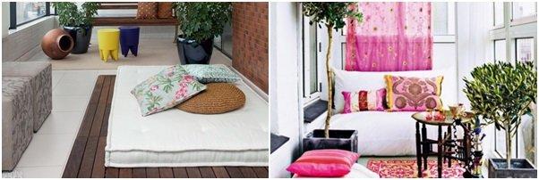 Tenha uma churrasqueira na varanda, ou um espaço aconchegante ou ainda tenha flores para deixar sua varanda mais bonita