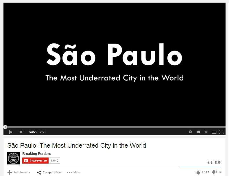 Não subestime São Paulo, veja o vídeo feito por gringos sobre as coisas boas da cidade